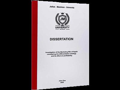 dissertation printing binding thermal binding red