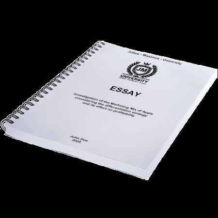 essay printing binding spiral metal