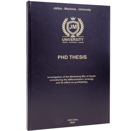 phd printing binding leather binding black