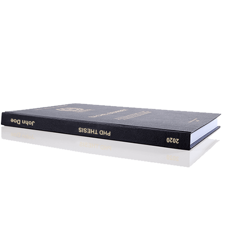 phd printing binding leather binding standard spine