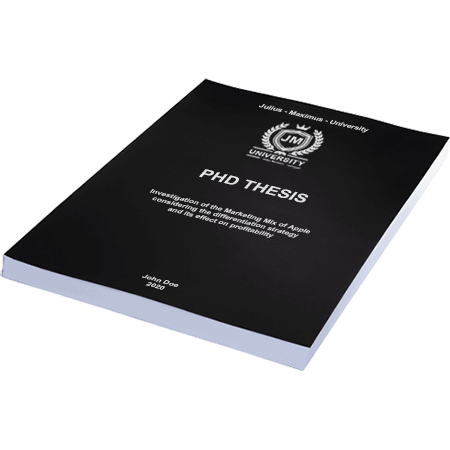 phd printing binding softcover black