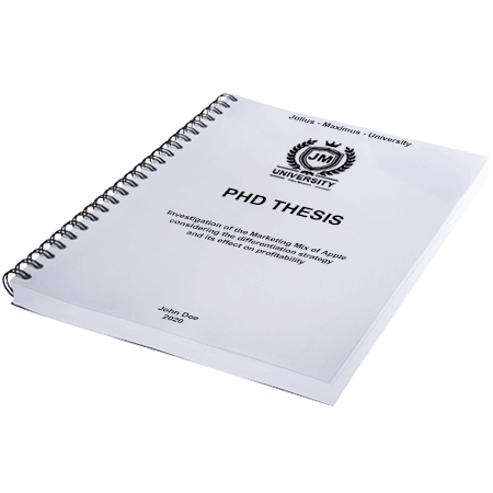 phd printing binding spiral metal