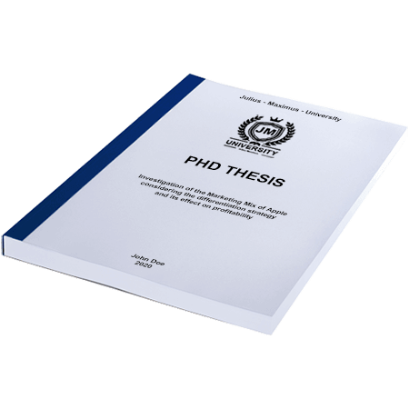 phd printing binding thermal binding blue