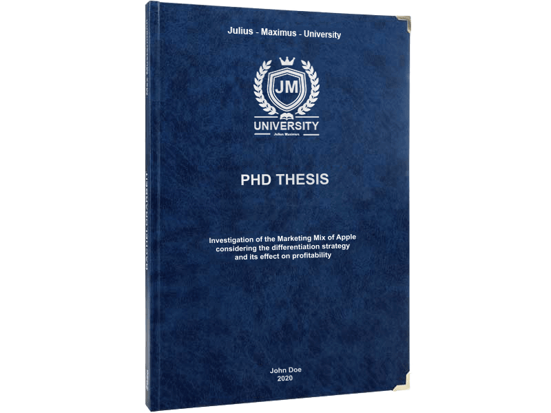 phd printing black leather binding premium blue