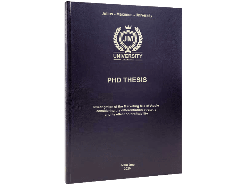 phd printing black leather binding standard