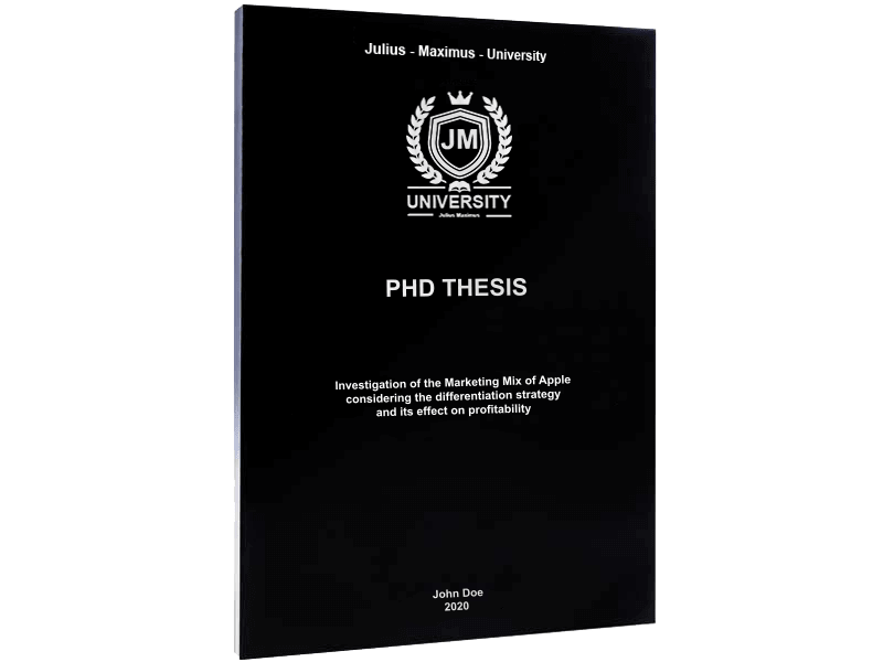 phd printing softcover binding blue