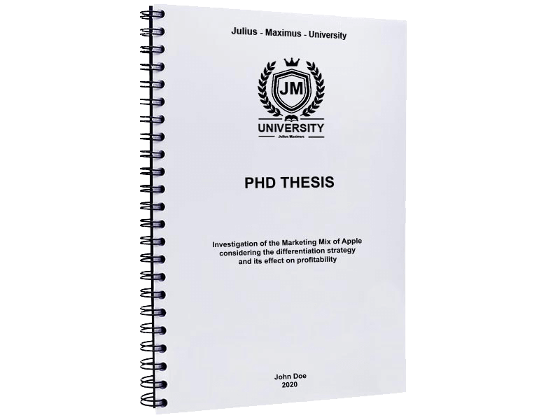 phd printing spiral binding metal black