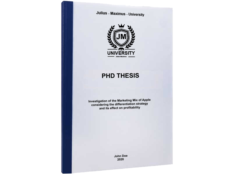 phd printing thermal binding blue