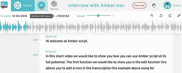 Audio Transcription use of transcript