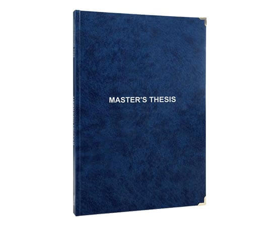 Print time of Master's thesis printing and binding with leather binding without embossing