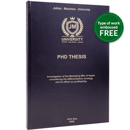 phd printing binding leather binding black standard