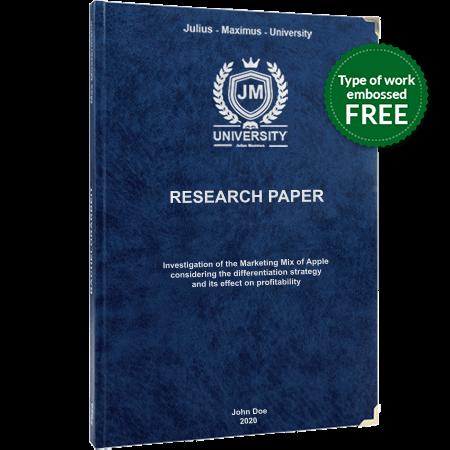research paper printing binding leather binding