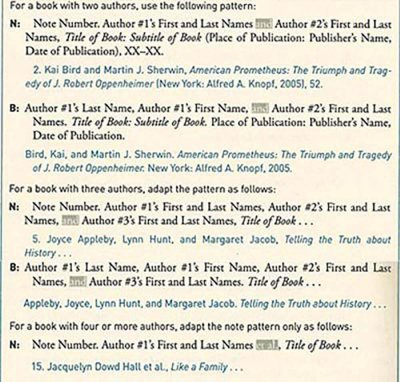 Chicago Style Citation multiple authors footnotes