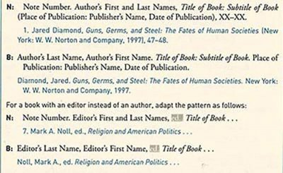 Chicago Style Citation single author footnotes