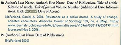 Chicago Style citation Journal Article Online