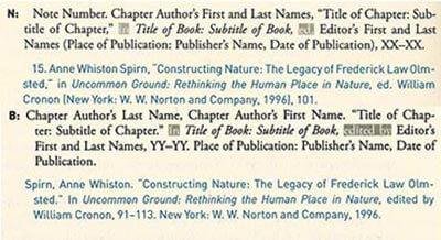Chicago Style citation Single Chapter (Edited Book) footnotes