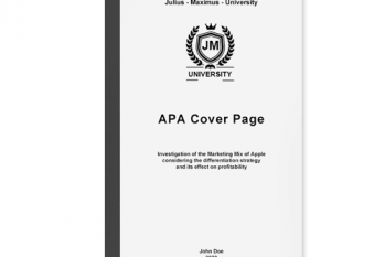 apa cover page academic writing
