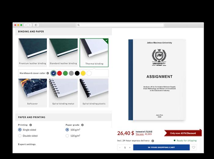 Assignment binding online shop 3d view