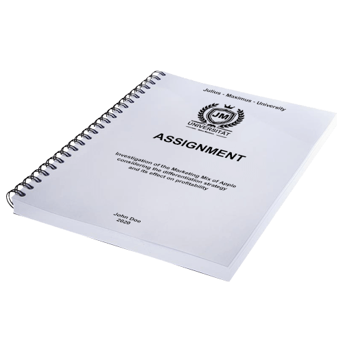 Assignment printing spiral binding