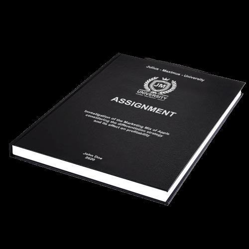 Assignment binding standard leather binding