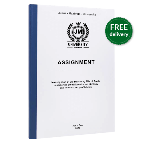 Assignment printing thermal binding free delivery