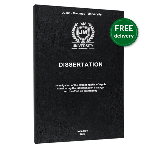 Dissertation online printing standard leather book binding