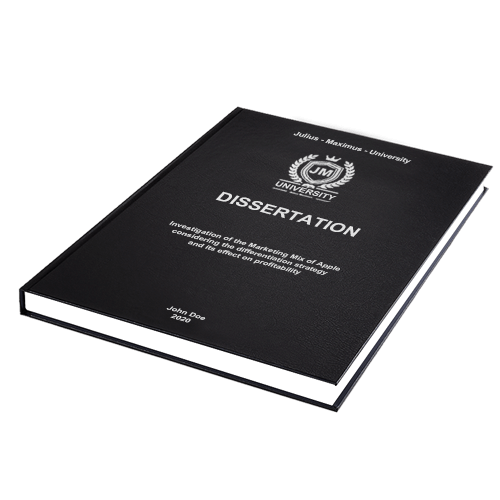 Dissertation printing binding standard leather binding