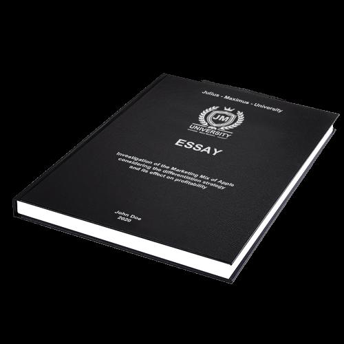 Essay binding standard leather binding