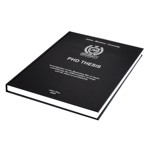 PhD printing standard leather binding