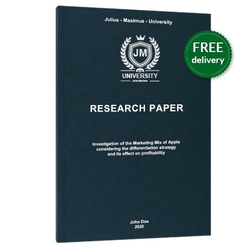 Research Paper premium leather book binding