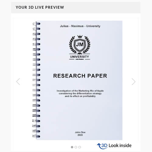 Research Paper wire binding 3d look inside