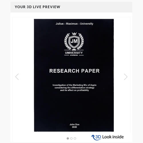 Research softcover 3d look inside