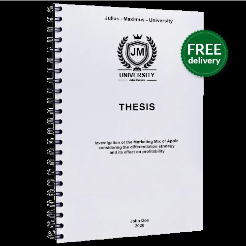Thesis printing spiral binding