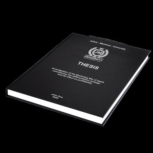 Thesis binding standard leather binding