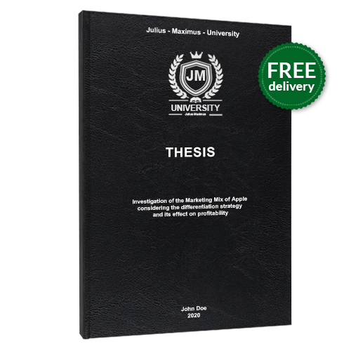 Thesis printing standard leather book binding