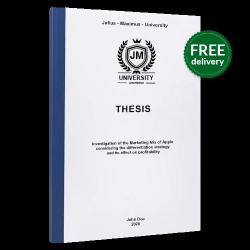 Thesis printing thermal binding