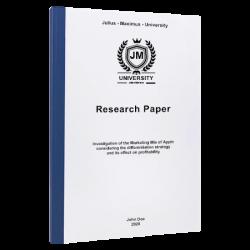 apa cover page paper printing & binding
