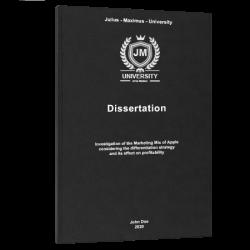 apa title page dissertation printing & binding