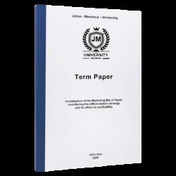 term paper example paper printing & binding