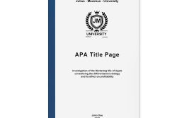 table of contents apa title page