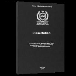 study timetable dissertation printing & binding