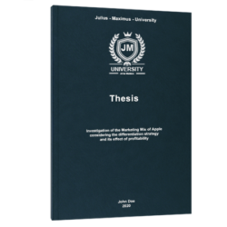 SMART goals thesis printing & binding