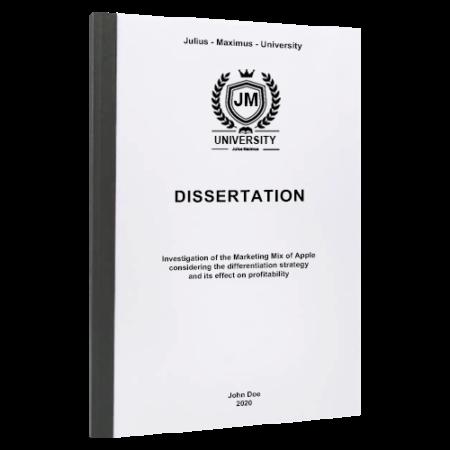 dissertation binding Dallas