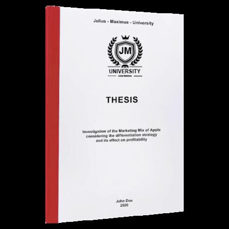 thesis binding Dallas